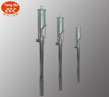 FY0.5T不銹鋼氣動漿料泵,不銹鋼氣動插桶泵,唐瑪氣動柱塞泵