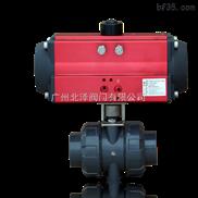 广东阀门 SQ611气动塑料球阀 单作用气动球阀 丝扣气动球阀